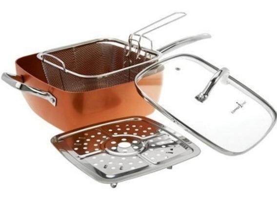 Frigideira Cooper Chef Caçarola 25cm 05 Peças Chef Cooking