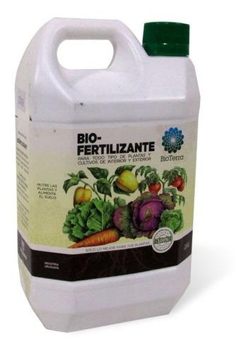 Fertilizante Bioterra Huerto Jardin Plantas Bidon De 1 Litro