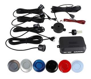 Sensores De Reversa 4 Puntos Con Buzzer (audibles) 22mm