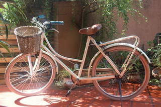 Bicicleta Vintag, Color Beige