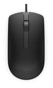 Mouse Óptico Dell Ms116 Preto