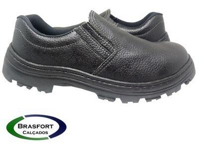 Sapato Elastico Segurança Couro Bico Pvc Barato