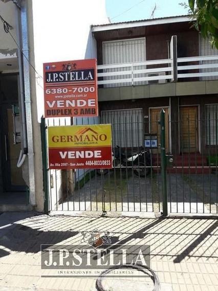 Duplex 3 Amb C/entrada De Auto -apto Credito - San Justo (ctro)