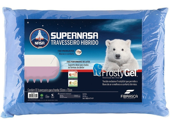 Travesseiro Fibrasca Frostygel Supernasa 50x70cm