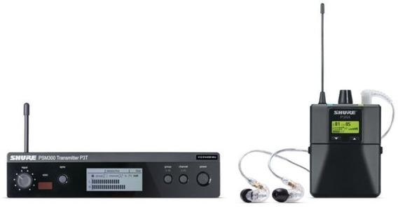 Transmissor Sem Fio P/ Fone Shure Psm 300 + Shure Se215 Nf