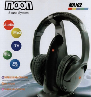 Moon Ma102 Auricular Inalambrico Profesional Fm Ideal Tv Pc