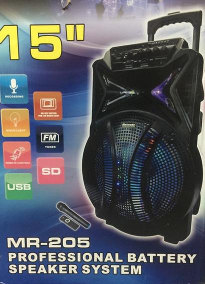 Corneta Inalambrica Con Bluetooth Micorfono Y Control Mr205