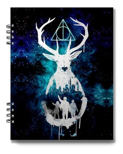 Bitácora Cuaderno Dibujo Harry Potter 100 Hojas Bond 75 Grs