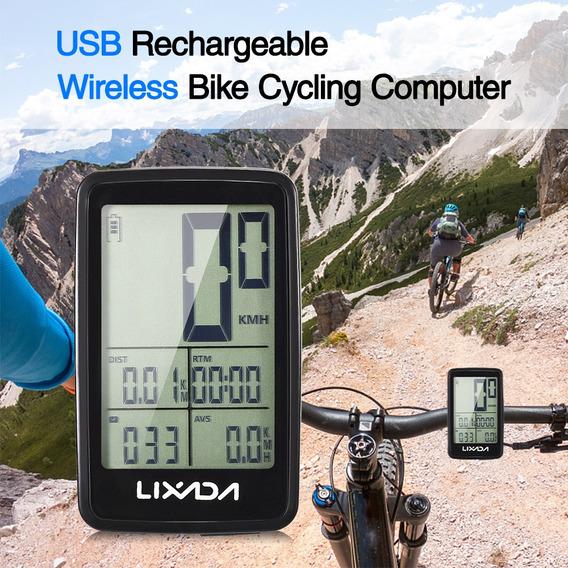 Lixada - Ordenador De Ciclismo Inalámbrico Recargable Por Us