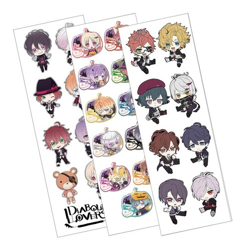 Plancha De Stickers De Anime De Diabolik Lovers