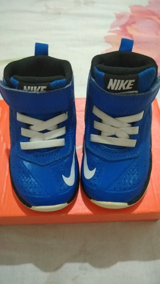 Tênis Nike Team Hustle D 7 Infantil Azul Original - Usado Ót