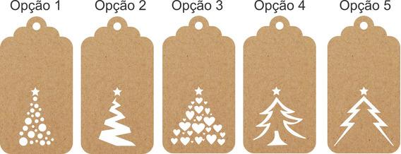 Tag Personalizado Com Tema Natal - 100 Pçs