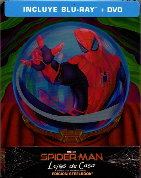 Spider-man Lejos De Casa Steelbook Pelicula Blu-ray + Dvd
