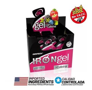 Gel Energetico Gentech Iron Gel +cafeína+ginseng X 24 Unid