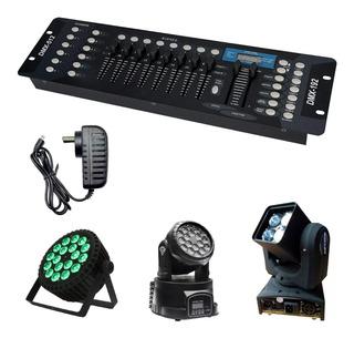 Consola Dmx 512 Universal 192 Canales Efectos Dj Profesional