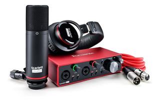 Placa De Sonido Focusrite Scarlett 2i2 Studio 3ra Gen