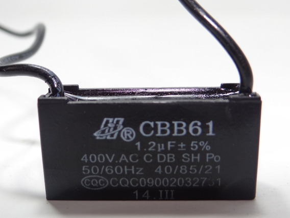 Capacitor Partida 1.2uf X 400vac Fio Cbb61 40/85/21