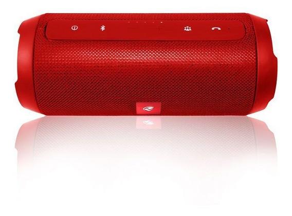 Caixa De Som Bluetooth Speaker 15w Rms Tipo Jbl C3tech Red