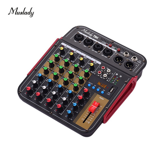 Muslady Tm4 - Mezclador De Audio Digital De 4 Canales