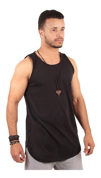 Kit 3 Com Camisa Camiseta Blusa Regata Masculina Longline