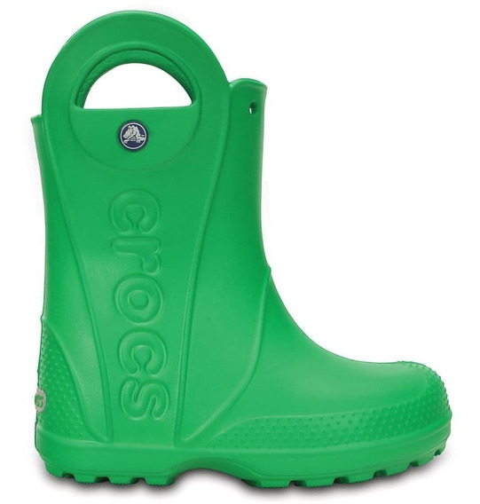 Bota De Lluvia Crocs Handle It Rain Kids C12803 C3e0 Verde