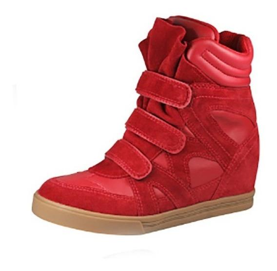 Sneaker (tenis Botinha) Com Salto