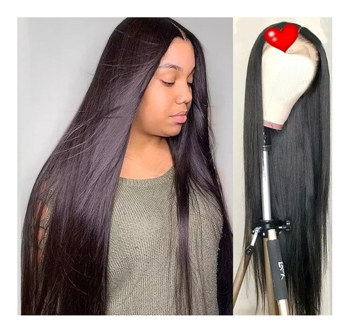 Peruca Lace Front Wig 4x4 Cabelo Total Humano 80cm 30 Inche
