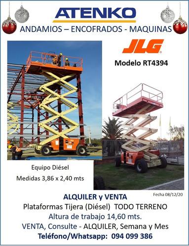 Alquiler Plataforma Tijera Andamio Diésel