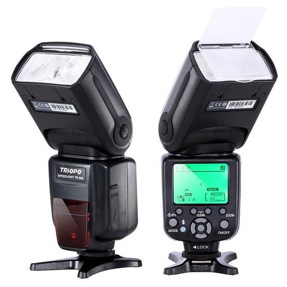 Flash Speedlight Triopo Nikon Universal Ou Ettl Canon Tr-988