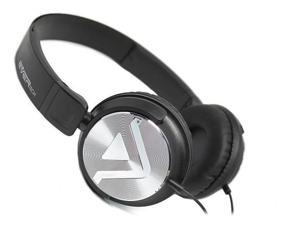 Fone Headphone Dj Evertech Evhp-20m/bb Preto C/ Nfe Garantia