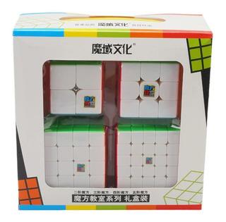 Kit Moyu Mofagjiaoshi 2x2 3x3 4x4 5x5 + Caixa Mdf