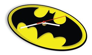 Reloj De Pared Super Heroes Logo Batman Dc Comic