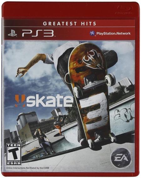 Skate 3 Greatest Hits - Ps3 - Mídia Física - Lacrado