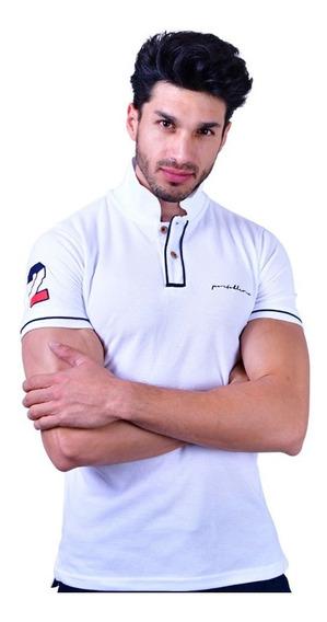 Camisa Polo Porto Blanco Algodon Hombre Blanca Lisa Pl-690