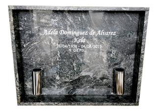 Lapida Para Nicho, Con Grabado Y Accesorios Incluidos + Foto