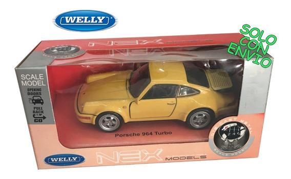 Welly 1:36 Porsche 964 Turbo Original Yellow