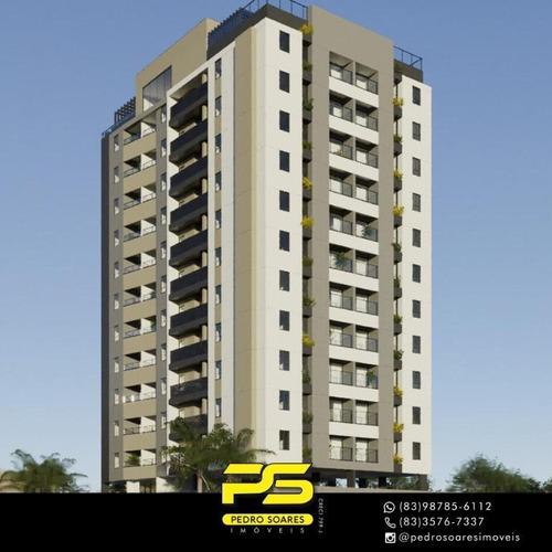 Apartamento Com 2 Dormitórios À Venda, 57 M² Por R$ 274.000 - Manaíra - João Pessoa/pb - Ap4079