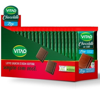 Chocolate Diet Ao Leite 24 Unidades - Vitao / Sem Açucar