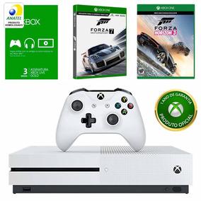 Kit Xbox One S Jogo Forza Horizon 3 + Forza 7 + Live 3 Meses