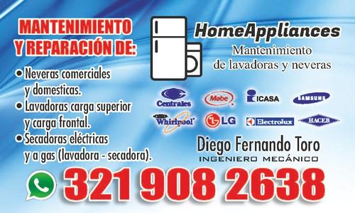 Imagen 1 de 10 de Mantenimiento Y Reparacion De Lavadoras Y Neveras.