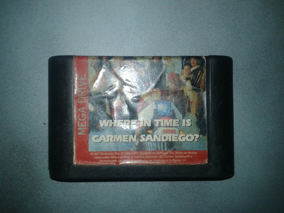 Jogo Where In Time Is Carmen Sandiego ? Para Mega Driver .