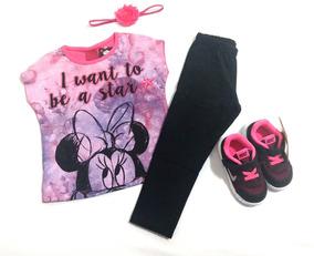 Lindo Look Bebê Feminino, Disney E Nike