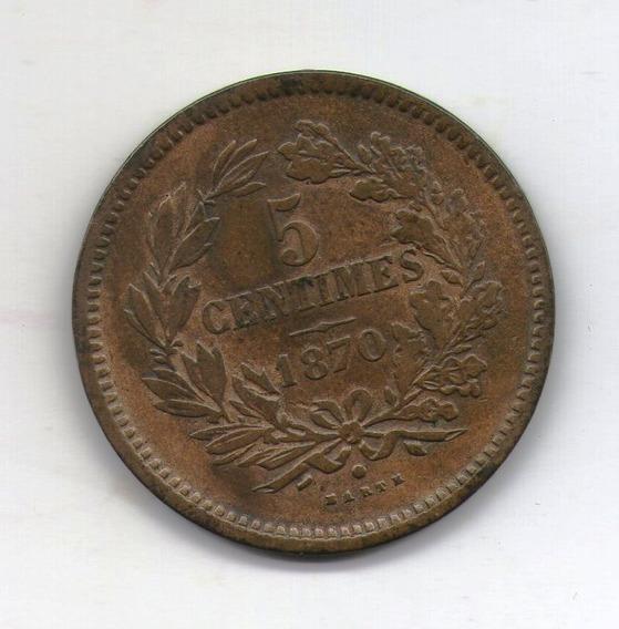 Luxemburgo Moneda 5 Centimes 1870 Km#22.1 - Argentvs