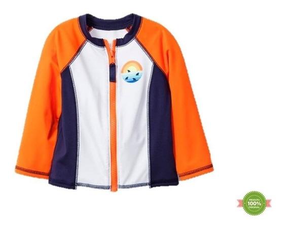 Camiseta Cat & Jack Praia 100% Uva/uvb Bebê Surfista