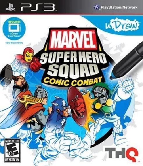 Jogo Marvel Superhero Squad Comic Combat Ps3 M. Fisica Udraw