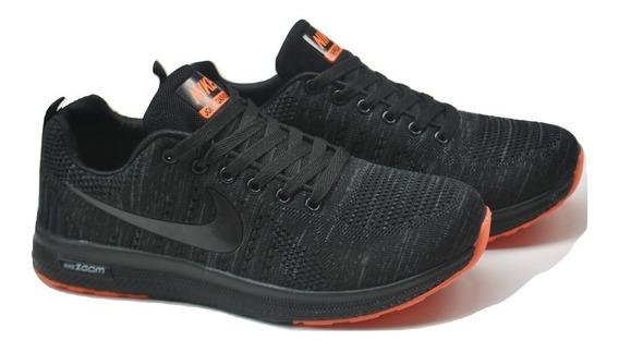 Kp3 Zapatos Caballeros Nike Zoom Negro Naranja Logo Negro