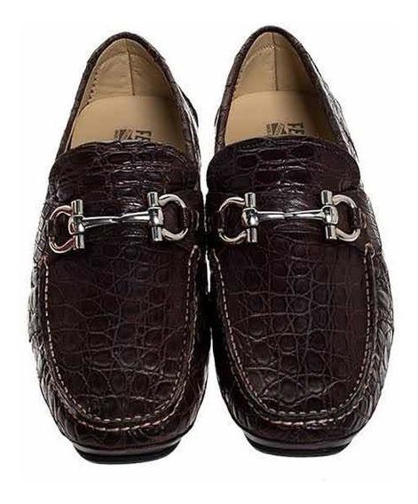 Zapatos Salvatore Ferragamo Piel De Cocodrilo Parigi 7d