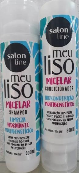 Kit Salon Line Meu Liso Micelar(sh+cond) Lancamento 300 Ml