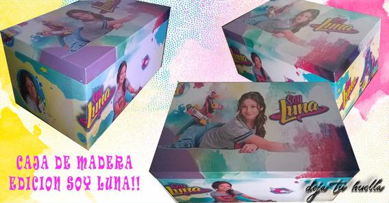 Soy Luna Caja De Madera (26 X 16 X 10cm )