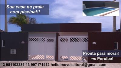 Casa A Venda No Bairro São João Batista Em Peruíbe - Sp. - 139-1